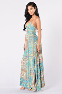 Going Somewhere? Maxi Dress - Turquoise