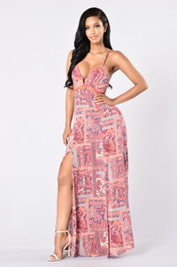 Going Somewhere? Maxi Dress - Pink Angle 1