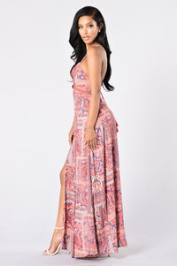 Going Somewhere? Maxi Dress - Pink Angle 3