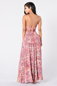 Going Somewhere? Maxi Dress - Pink Angle 2