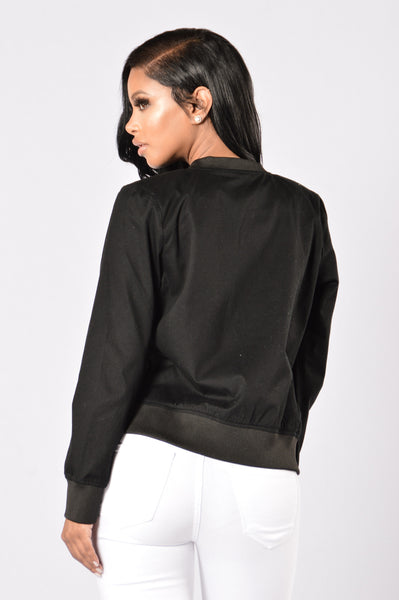Ace Bomber Jacket - Black