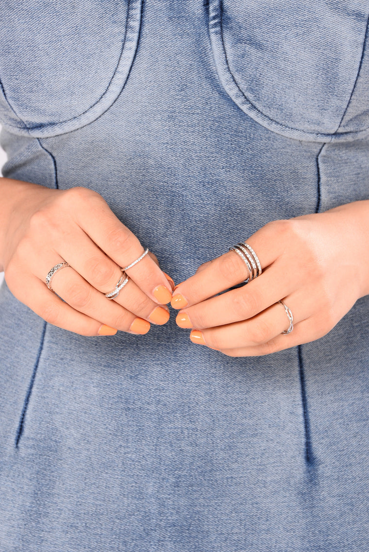Anely Ring Set - Silver