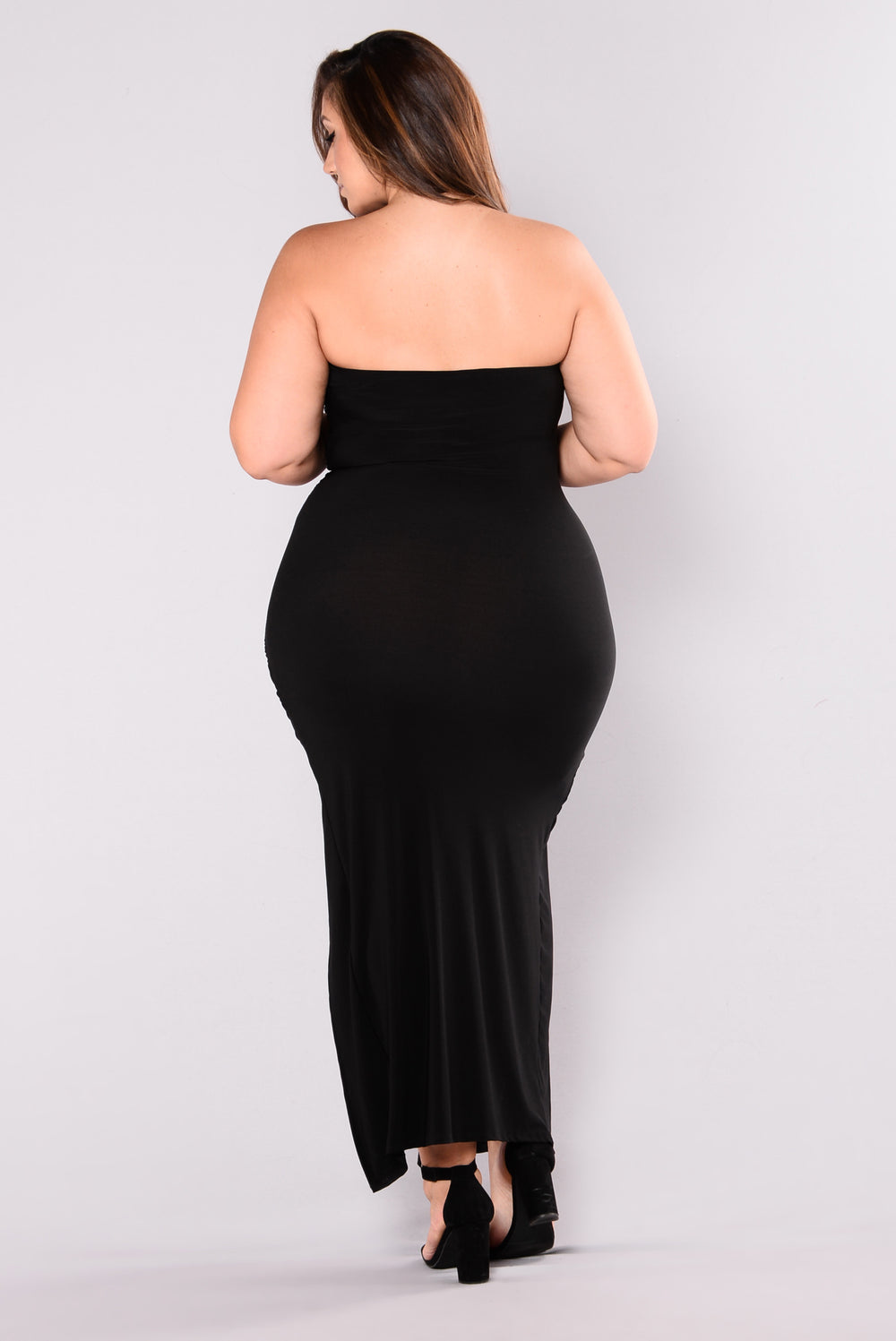It's A Date Ruched Dress - Black