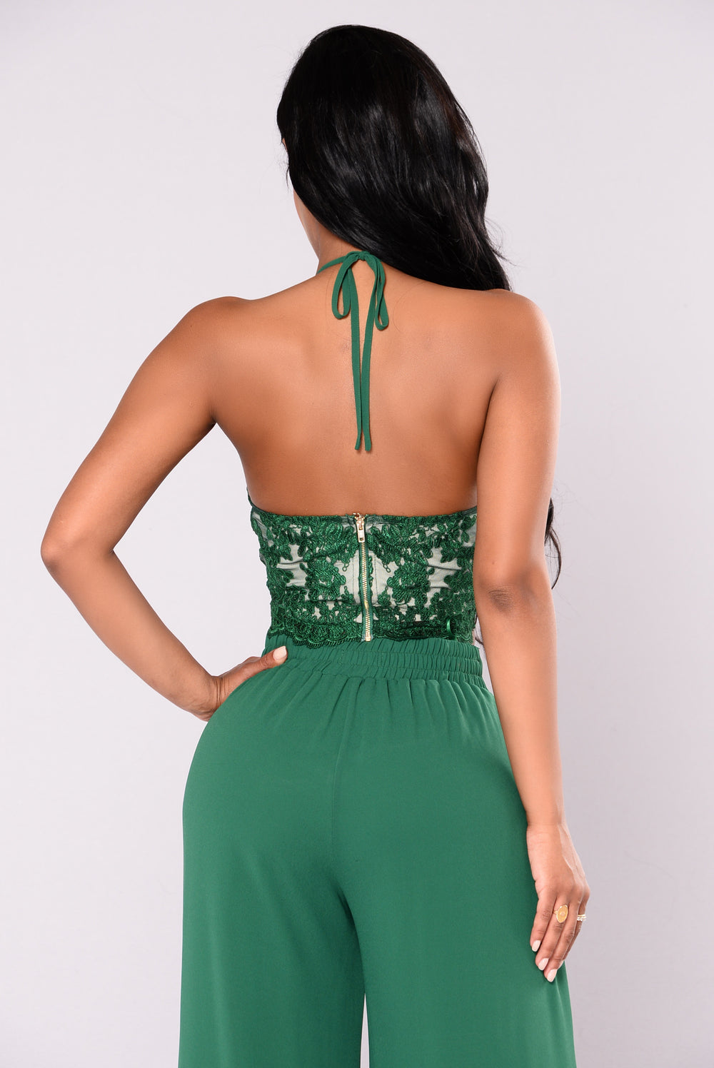 Wild Thoughts Lace Set - Hunter Green