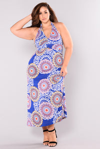 Wild Life Maxi Dress - Royal