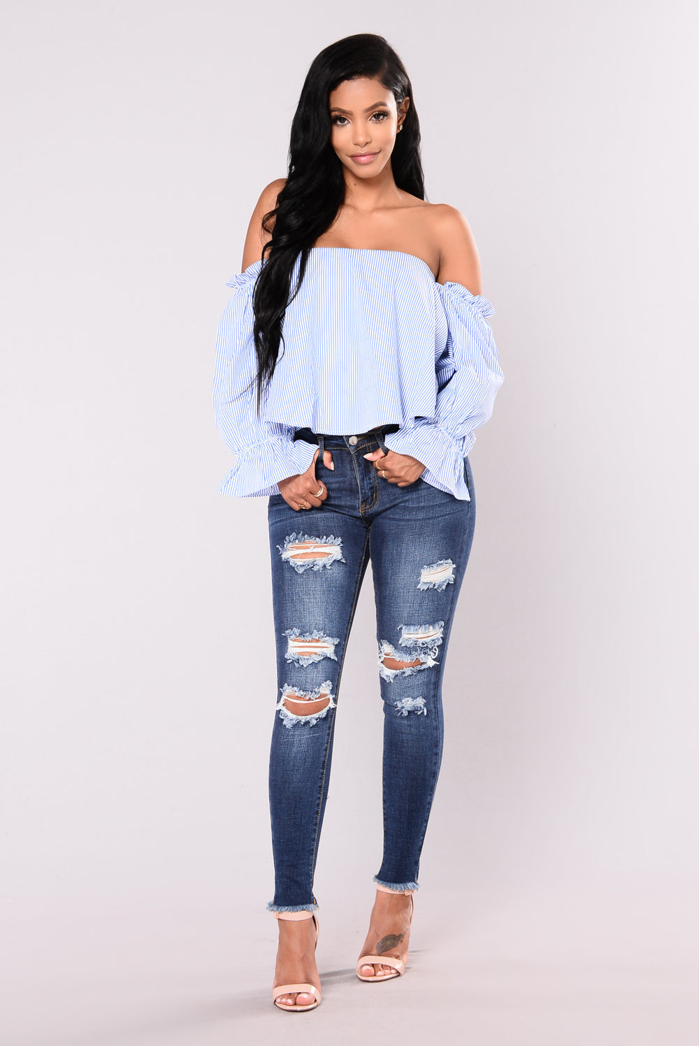 Bodhi Off Shoulder Top - Royal