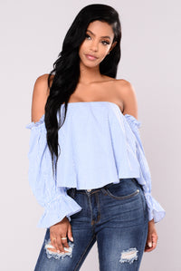 Bodhi Off Shoulder Top - Royal Angle 1