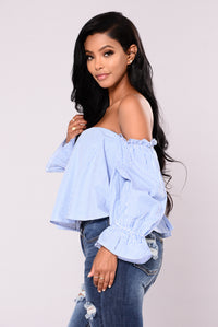 Bodhi Off Shoulder Top - Royal Angle 2