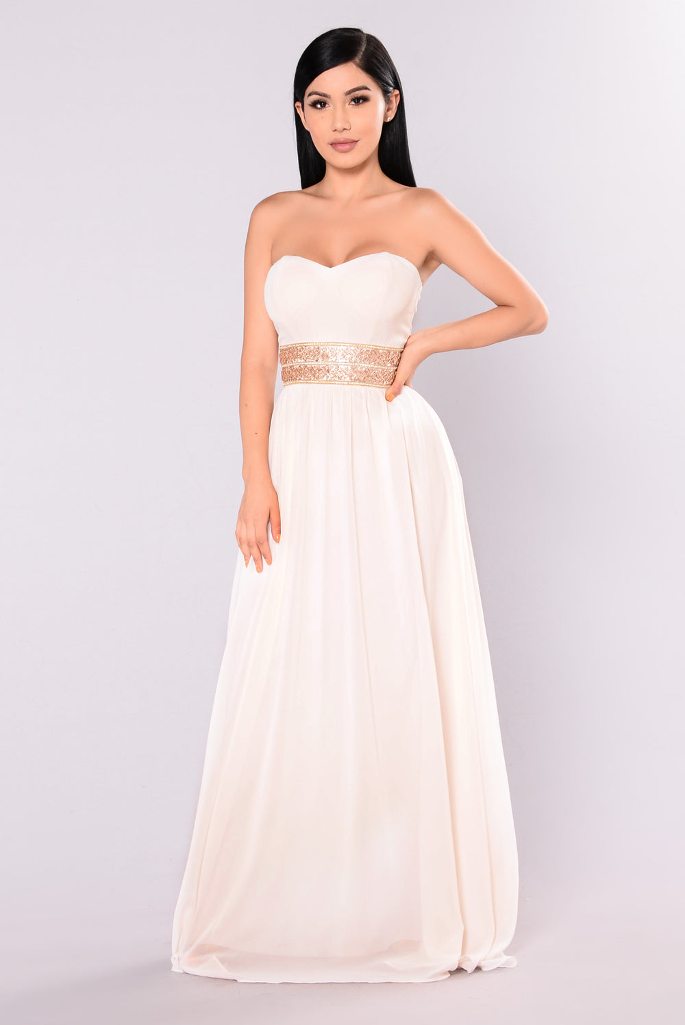 Felicity Strapless Dress - Cream