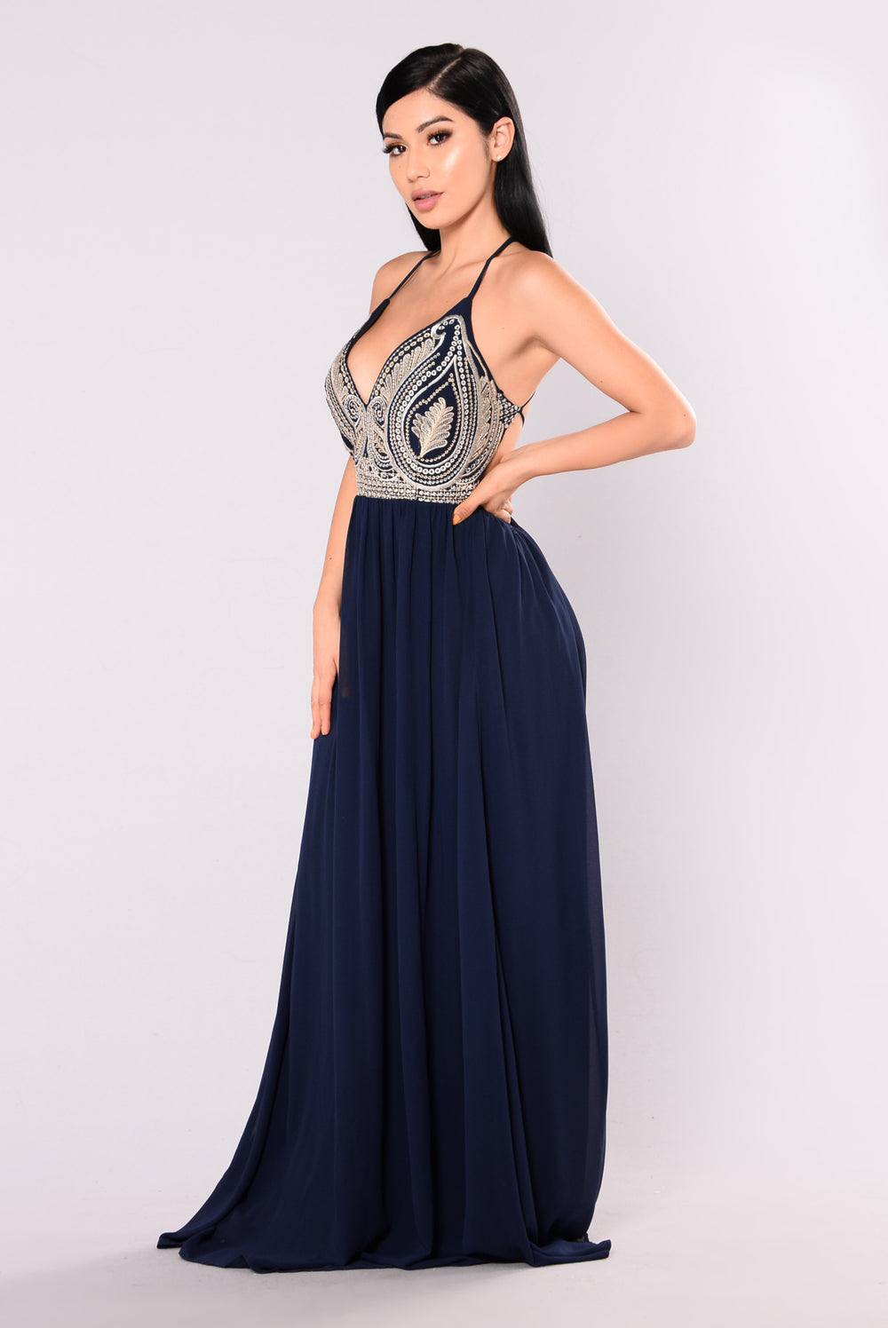 Splendor Maxi Dress - Navy