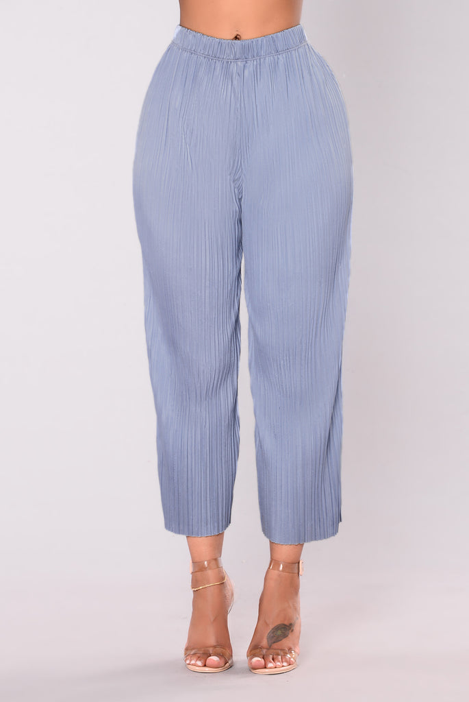 Carmella Pleated Pants - Blue
