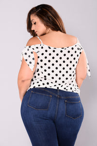 Hot Spot Polka Dot Tank Top - Ivory/Black