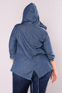Anna Lynn Anorak Jacket - Dark Denim