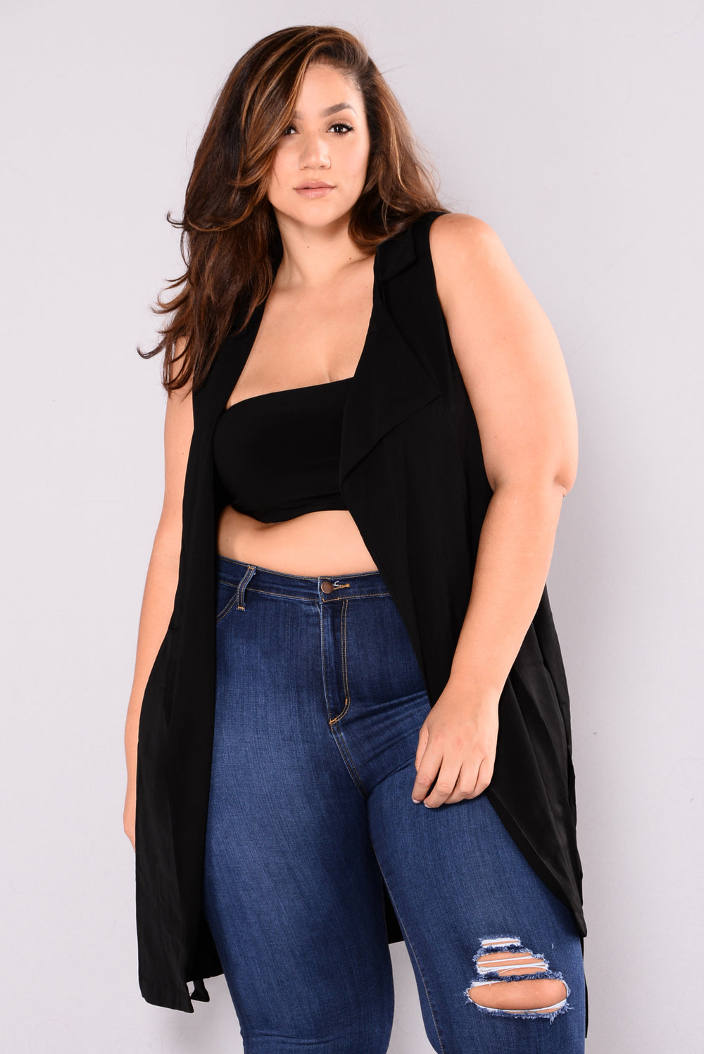 Gone Girl Duster Jacket - Black
