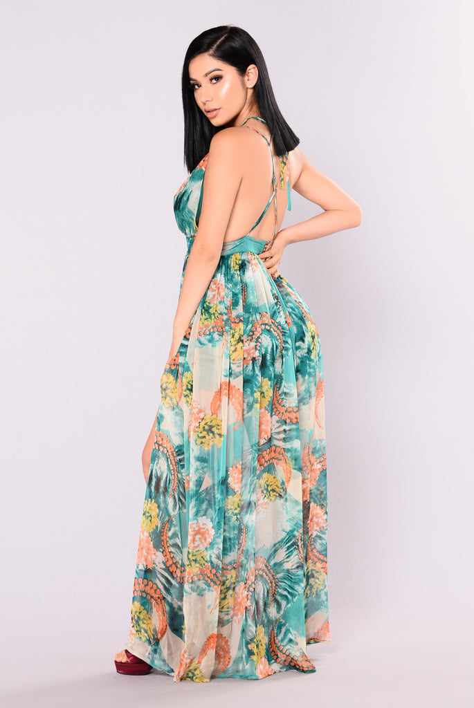 Cattleya Maxi Dress - Hunter Green