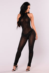 Bellah Studded Jumpsuit - Black