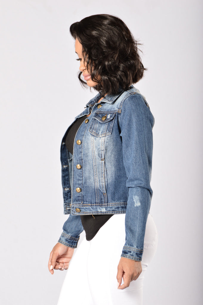 Roadie Denim Jacket - Medium Stone Wash