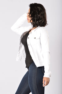 Not Guilty Denim Jacket - White