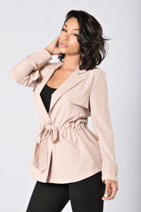 Trendy Trench Coat - Mauve
