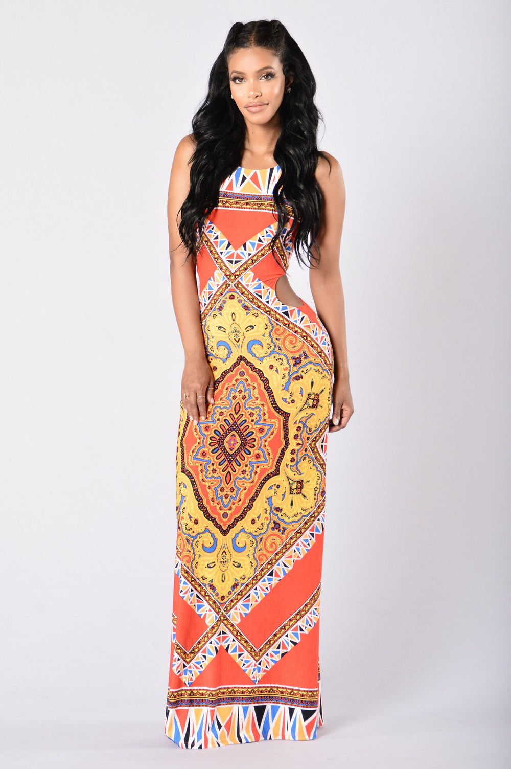 Under the Tuscan Sun Dress - Orange