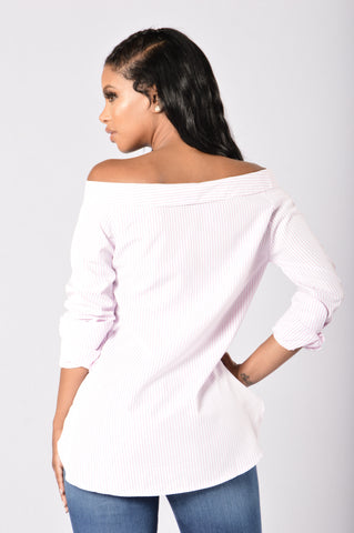 Chit Chat Top - Pink/White
