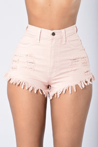 Hard Summer Shorts - Blush Angle 1