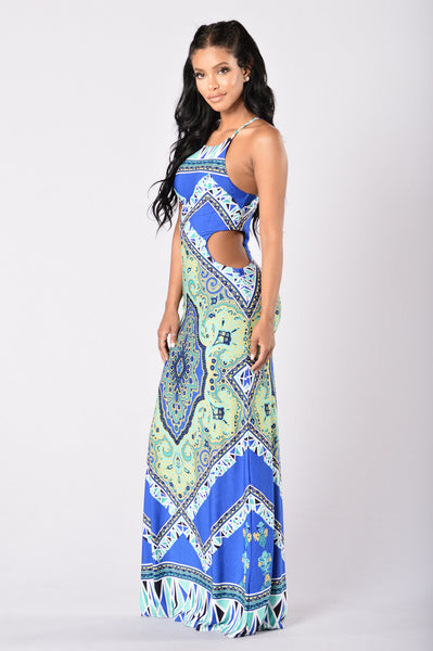 Under the Tuscan Sun Dress - Blue