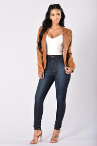 Rebel Heart Moto Jacket - Camel Angle 5