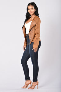 Rebel Heart Moto Jacket - Camel Angle 7