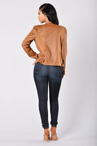 Rebel Heart Moto Jacket - Camel Angle 6