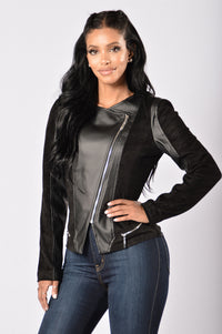 Rebel Heart Moto Jacket - Black