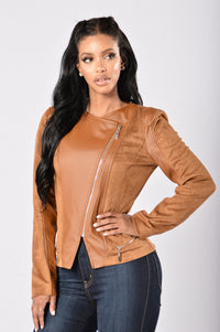 Rebel Heart Moto Jacket - Camel Angle 1