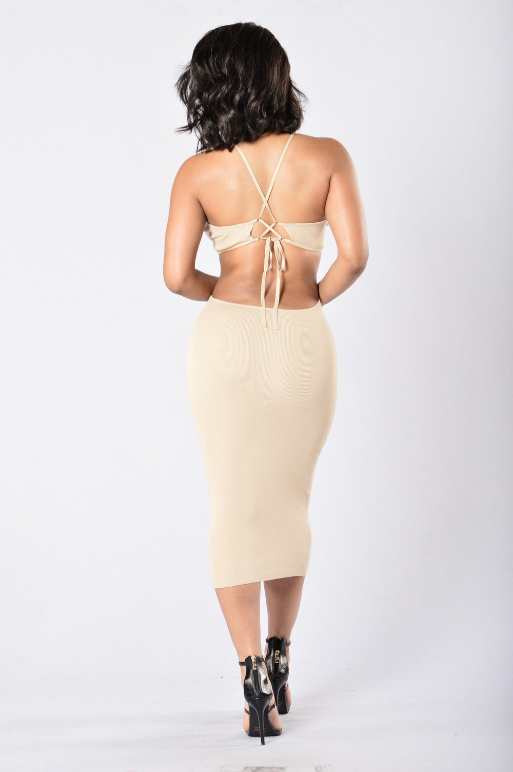 Bring it Back Dress - Taupe
