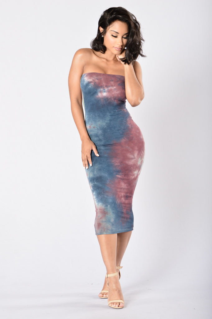 Pull Me Up Tube Dress - Multi