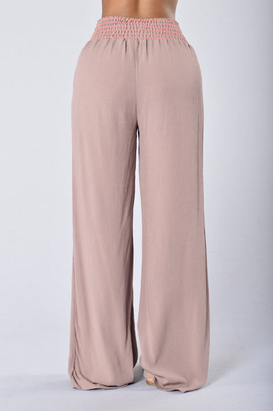 Lazy Day Pants - Mauve