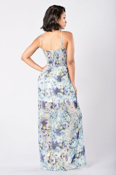 Masterpiece Maxi Dress - Blue Multi