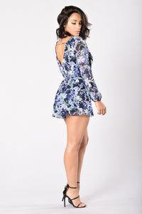 Stroll in the Park Romper - Navy