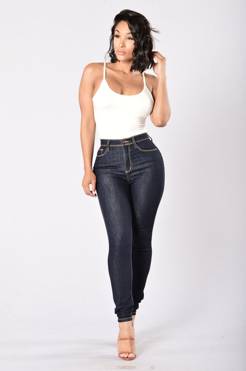 High Waist or the Highway Jeans - Dark