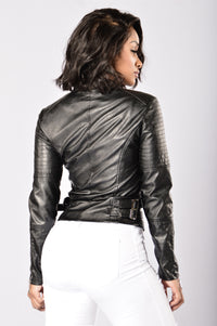 City Lights Moto Jacket - Black
