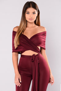 Many Talents Multi Way Jumpsuit - Burgundy