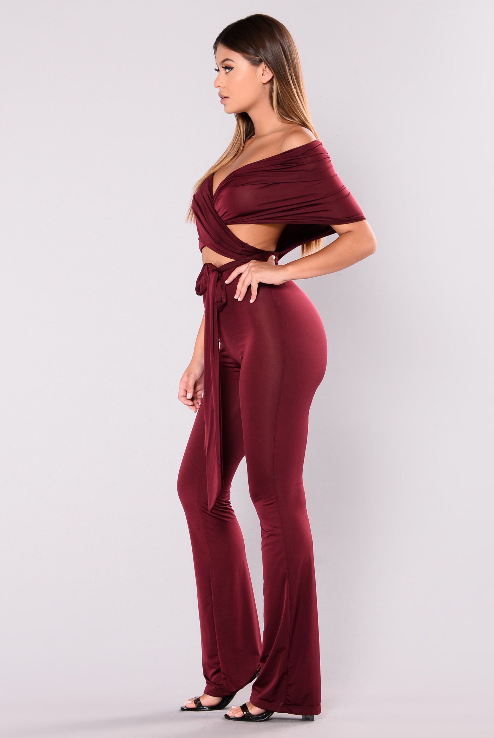 0f4fe993282c Many Talents Multi Way Jumpsuit - Burgundy