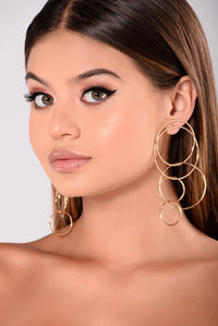 Endless Rounds Earrings - Gold