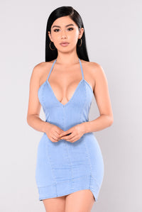 Galya Denim Dress - Light Blue Wash