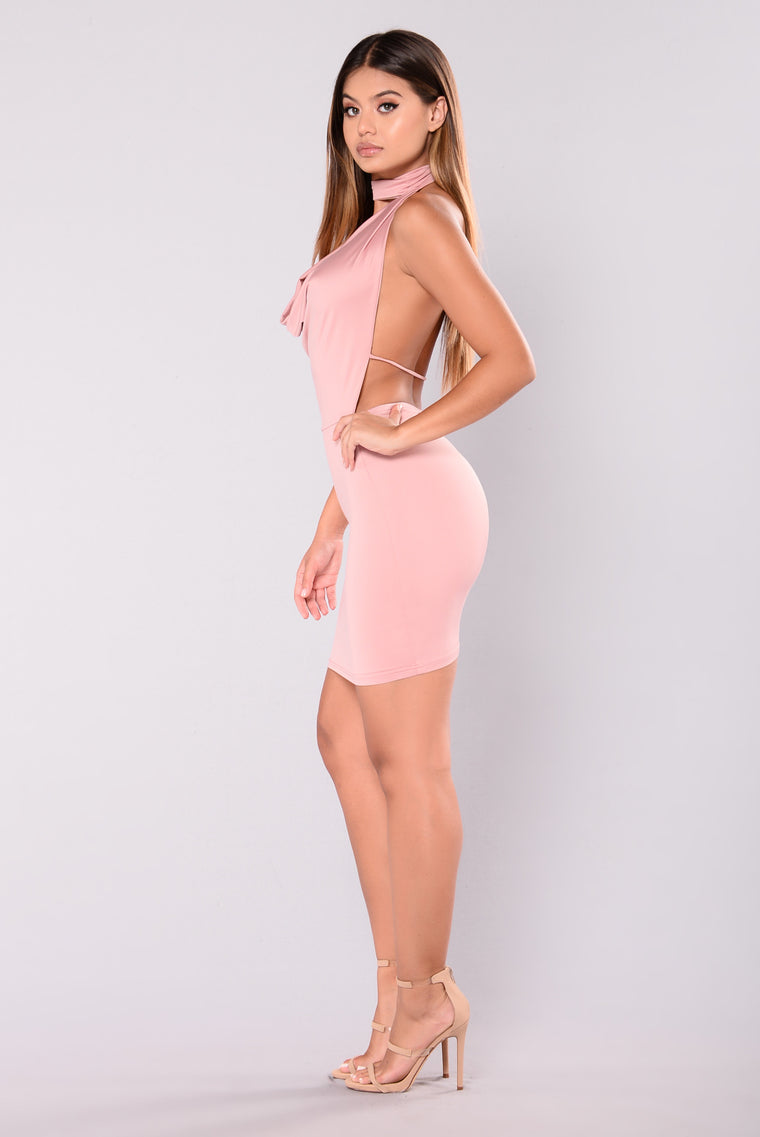 Chrissy Dress - Dusty Mauve