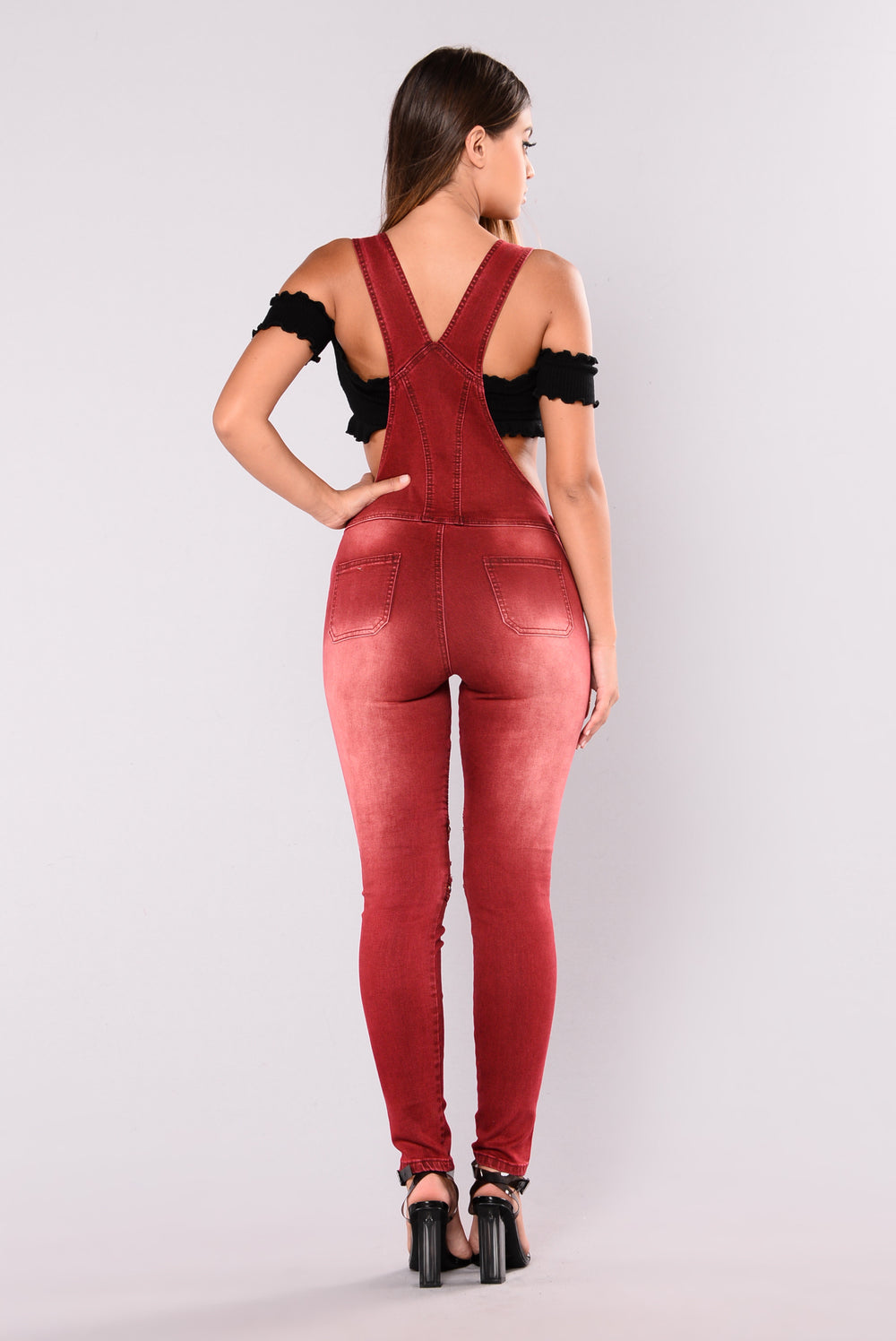 Lindy Moto Go To Jumpsuit - Burgundy