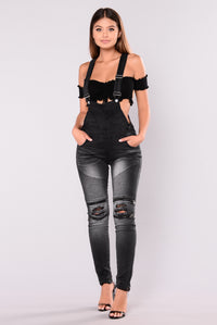 Lindy Moto Go To Jumpsuit - Black