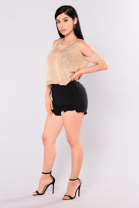 Verena Fish Net Short - Black