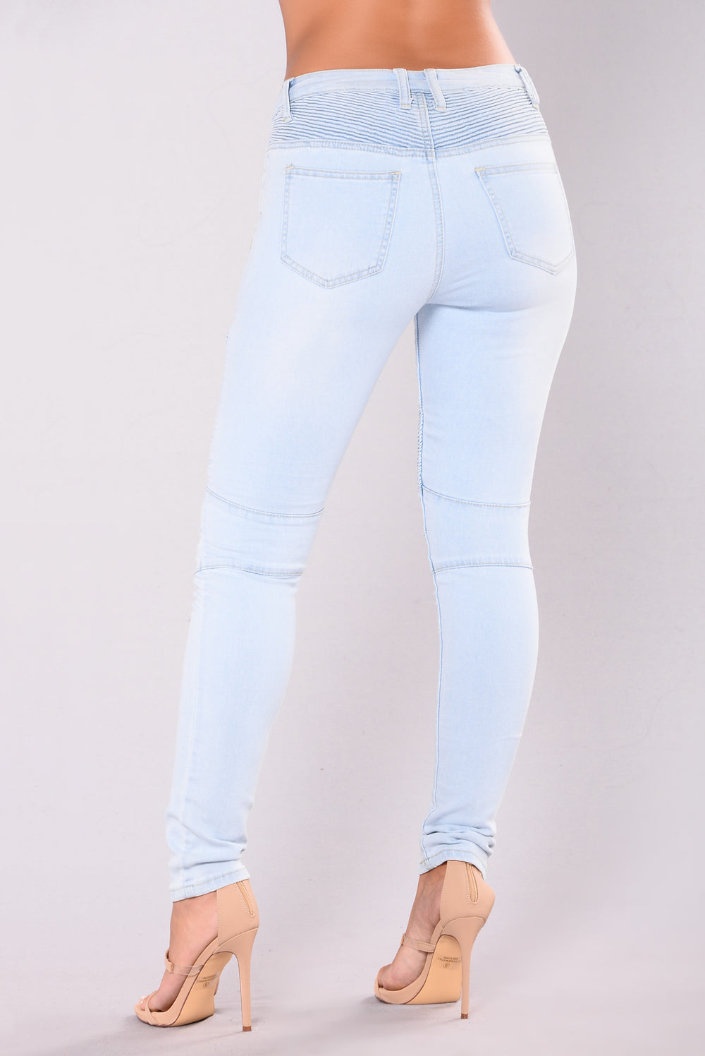 On The Highway Moto Jeans - Light Blue