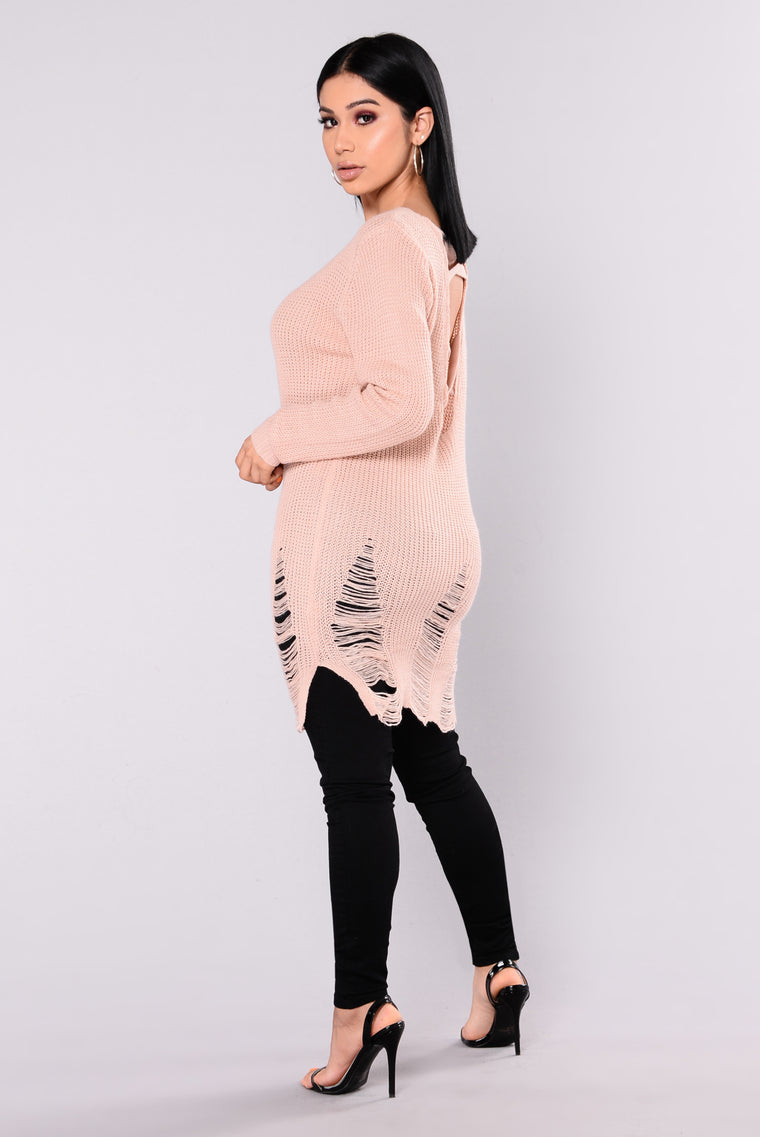 Larissa Tunic Sweater - Rose Pink