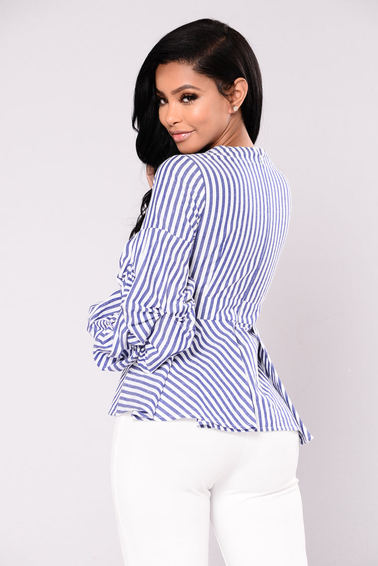 Controlla Stripe Top - Navy/White